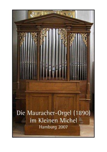 Technische Daten zur Mauracher-Orgel - Walcker-Mayer