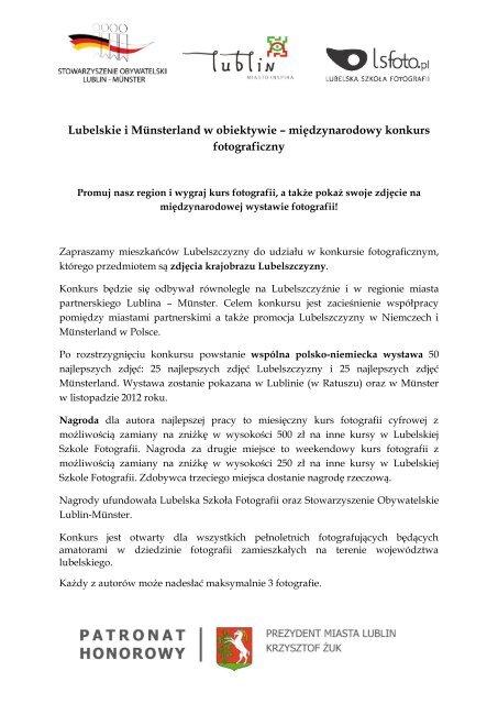 Zaproszenie na konkurs / PDF