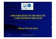 ORGANISATION OF THE HEALTH CARE SYSTEM IN ... - StAZ