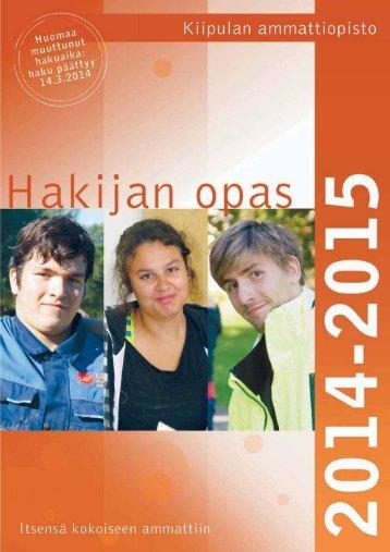 Hakijan opas (pdf) - Kiipulan ammattiopisto