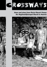 July/August 2008 - Christ Church Vienna, Austria
