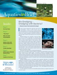 Aquatics In Brief Newsletter - Winter 2010 - Virginia Lake ...
