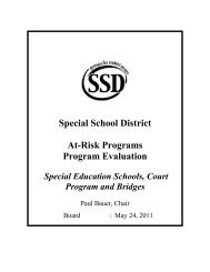 At-Risk Programs, Special Education Schools, Court Programs and ...
