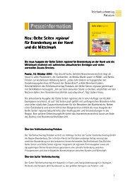 Presseinformation_Telefonbuchverlag Potsdam_Gelbe Seiten ...