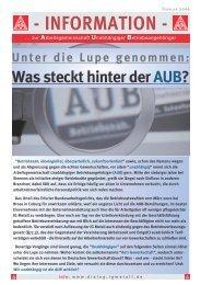 INFORMATION - Siemens Dialog - IG Metall