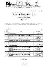 0 - Zadavaci dokumentace - Veterinární a farmaceutická univerzita ...