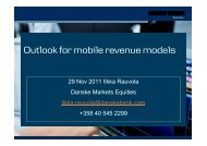 Outlook for mobile revenue models - Hetky