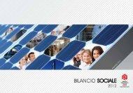 Bilancio Sociale 2012 - Gruppo Industriale Tosoni