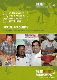 Shared Interest Social Accounts - 2007 - The Social Audit Network