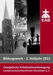 Bildungswerk - 2. Halbjahr 2013 - EAB-NRW