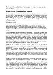 Offener Brief an Angela Merkel von Fran - Grüne Schriesheim