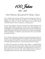 Weine des Monats - Hotel Belvedere Grindelwald