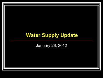 Water Supply Update - North Texas Municipal Water District