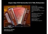 Zupan Alpe IV/D Harmonika G-C-F-Bb (Palisander) - Tanz mit Franz