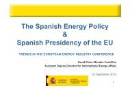The Spanish Energy Policy & Spanish Presidency ... - TOP EXPO CZ