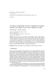 An Analysis of Applicability of Genetic Algorithms for Selecting ...