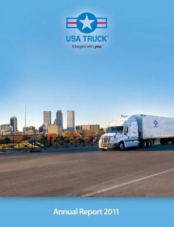 Annual Report 2011 - USA Truck