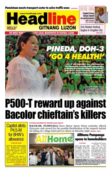 pineda, dOH-3 'GO 4 HealtH!' - Headline Gitnang Luzon
