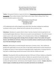Summer School Student Expectations - Rockwall ISD