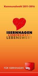 SPD Flyer Einzelseiten - SPD-Ortsverein Isernhagen