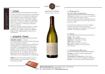 • Vigne • HISTOIRE • GÉOGRAPHIE-TERROIR - Les vins de Vienne