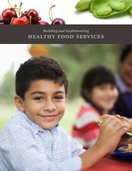 Building and Implementing Healthy Food Services - The Food Trust