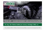 Černé uhlí – nerostné bohatství nebo surovinová ... - TOP EXPO CZ