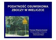 prezentacja - Katedra Geologii Podstawowej - Uniwersytet Śląski