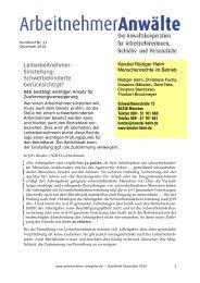Rundbrief Nr. 13 (PDF) - Arbeitnehmer Anwälte