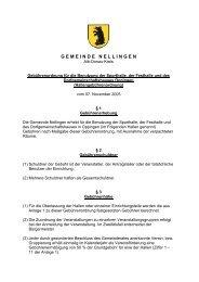 Gebührenordnung für die Benutzung der Sporthalle, der ... - Nellingen