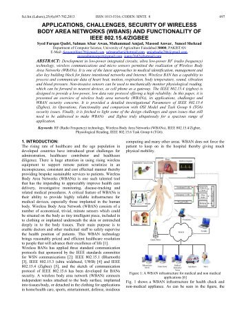 APPLICATIONS, CHALLENGES, SECURITY OF WIRELESS BODY ...