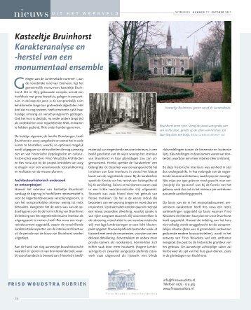 Friso Woudstra/Res Nova - vakbladvitruvius.nl