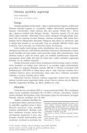 Sintautų apylinkių augmenija - Lietuvos lokaliniai tyrimai