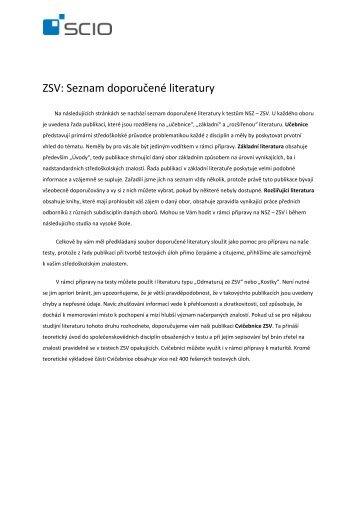 seznam odborné literatury - Scio