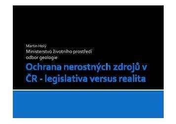 HOLÝ MARTIN: Ochrana nerostných zdrojů v ČR - TOP EXPO CZ