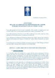 principales dispositions de l'offre publique de retrait sur les titres 'lgmc'