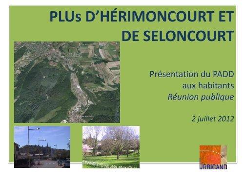 3 réunions publiques - Mairie de Seloncourt
