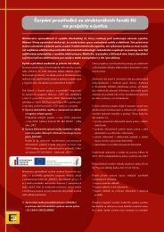 Čerpání prostředků ze strukturálních fondů EU na ... - Egovernment