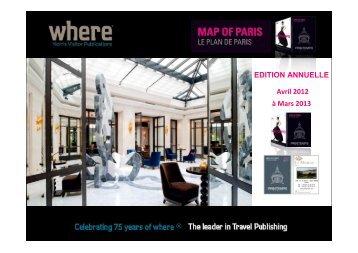 EDITION ANNUELLE Avril 2012 à Mars 2013 - Where Paris