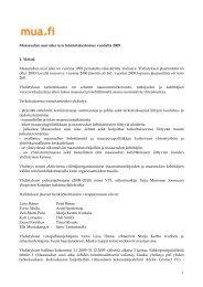 Maaseudun uusi aika ry:n toimintakertomus vuodelta 2009 1. Yleistä ...