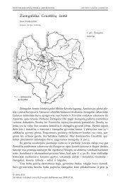 Žiemgališka Gruzdžių žemė - Lietuvos lokaliniai tyrimai