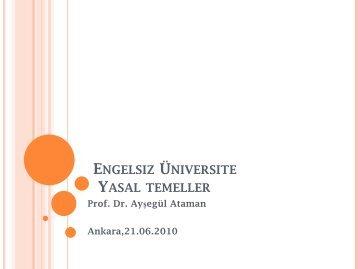 13.Engelsiz Üniversite - Engelsiz Üniversite Birimi