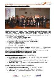 ORGANIZÁTOR: Závěrečná zpráva ze dne 11. 11 ... - TOP EXPO CZ