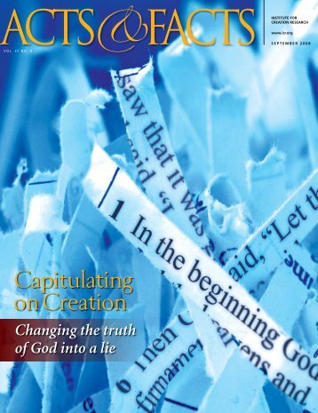 Download September 2008 PDF - The Institute for Creation Research