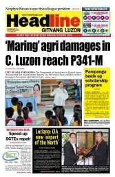 Luciano: CIA now 'airport of the North' - Headline Gitnang Luzon