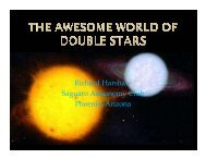 The Awesome World of Double Stars - Huachuca Astronomy Club