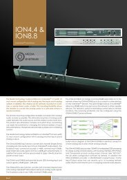 ION4.4 & ION8.8 - Media Technology Systems