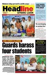 HAU Union Alleges - Headline Gitnang Luzon