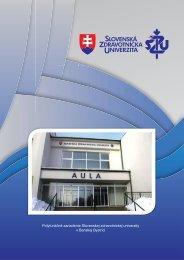 Informačný materiál - Slovenská zdravotnícka univerzita