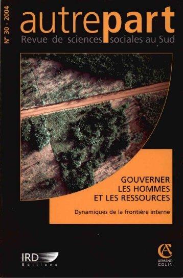 Gouverner les hommes et les ressources : dynamiques de la - IRD